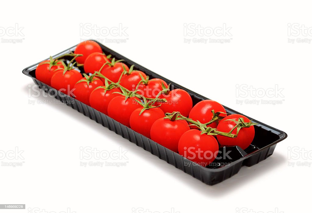 Cherry tomatoes on branch royalty-free stock photo