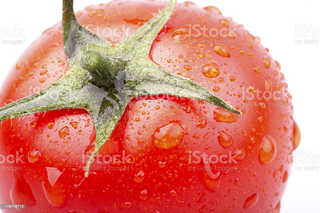 cherry tomatoes on white background royalty-free stock photo