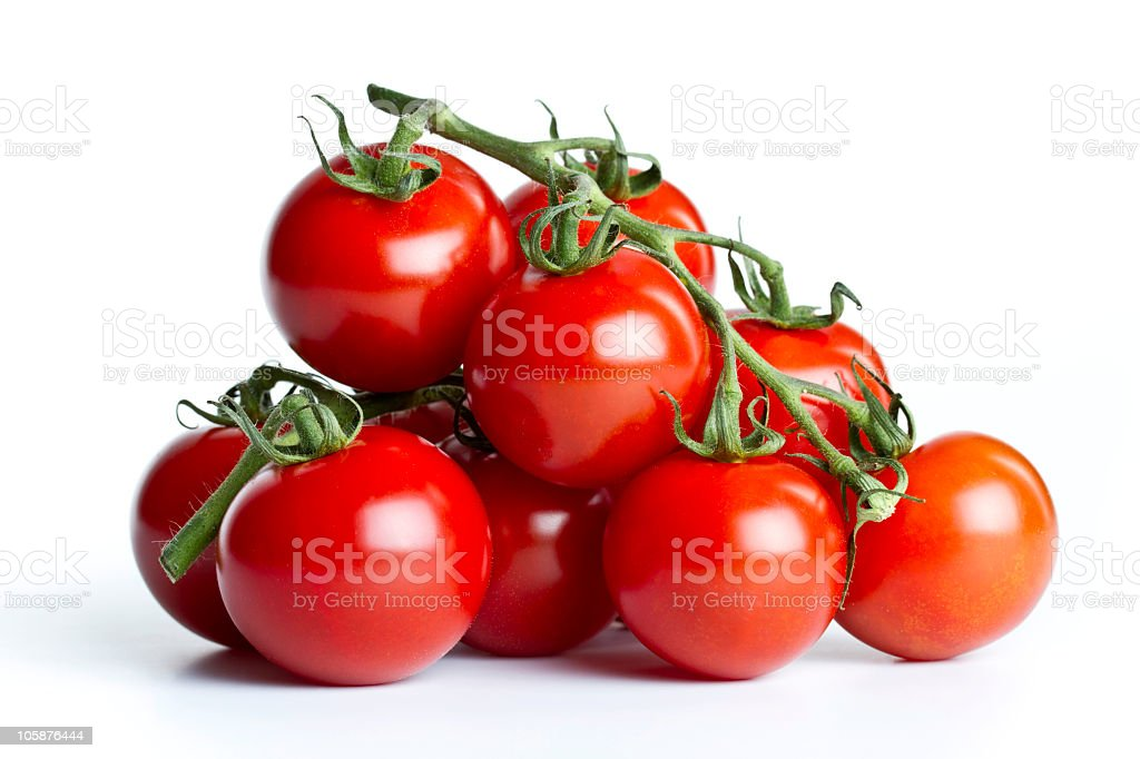 cherry tomatoes twig royalty-free stock photo