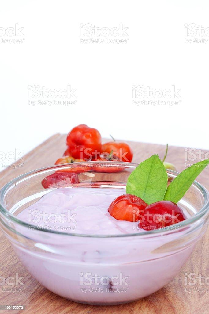 Cherry yogurt royalty-free stock photo
