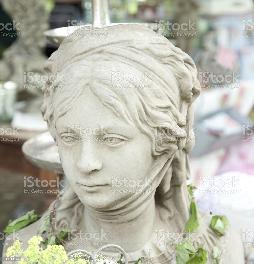 cherub as woman stock photo