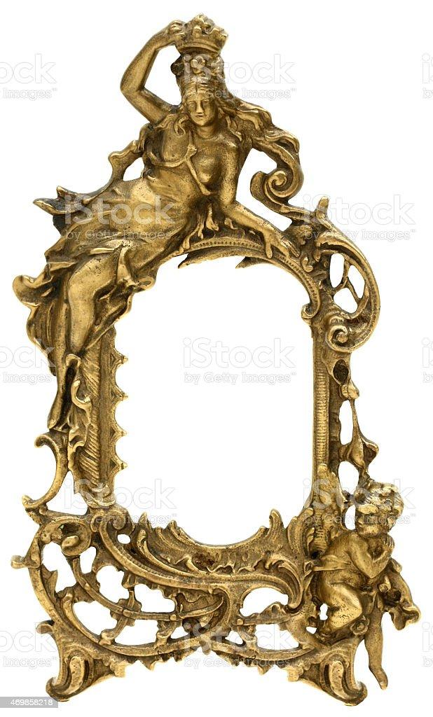Cherub Gold Picture Frame stock photo