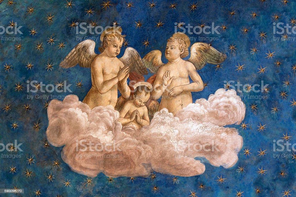 Cherubim Angels stock photo