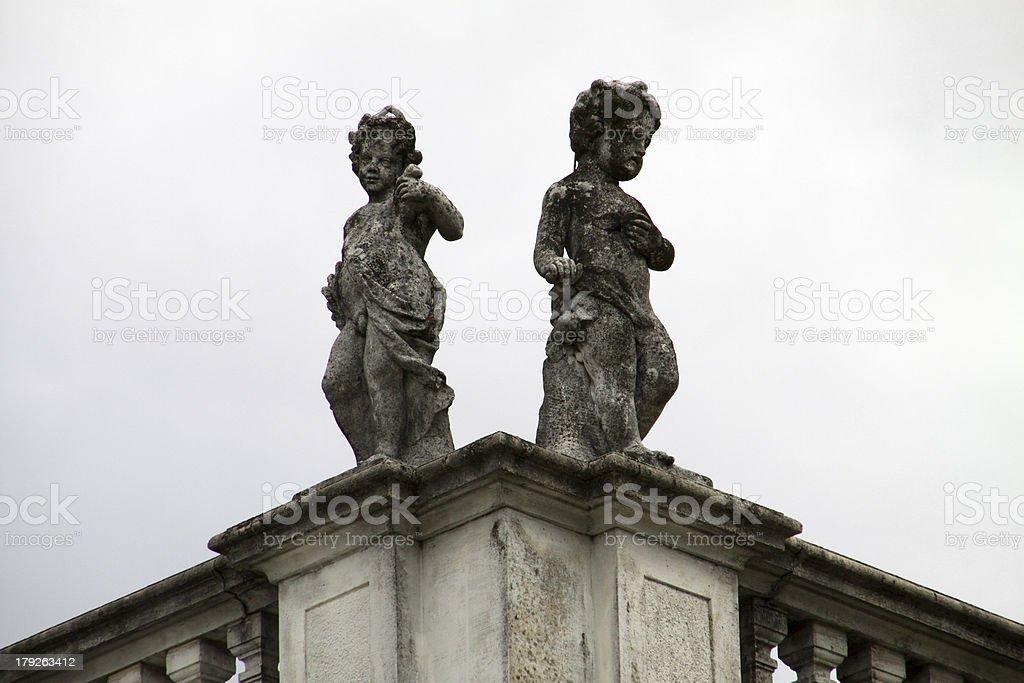 Cherubs at the Orangerie in Kassel stock photo