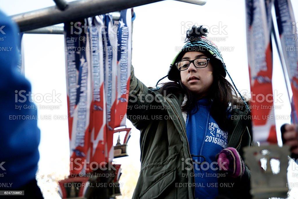 Cheruiyot, Ward win 2016 Philadelphia Marathon stock photo