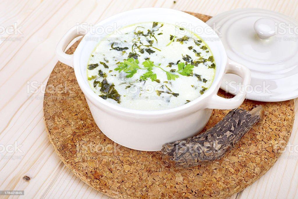chervil soup stock photo