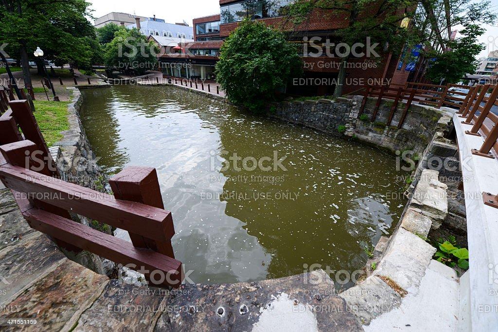 Chesapeake and Ohio Canal, Georgetown stock photo