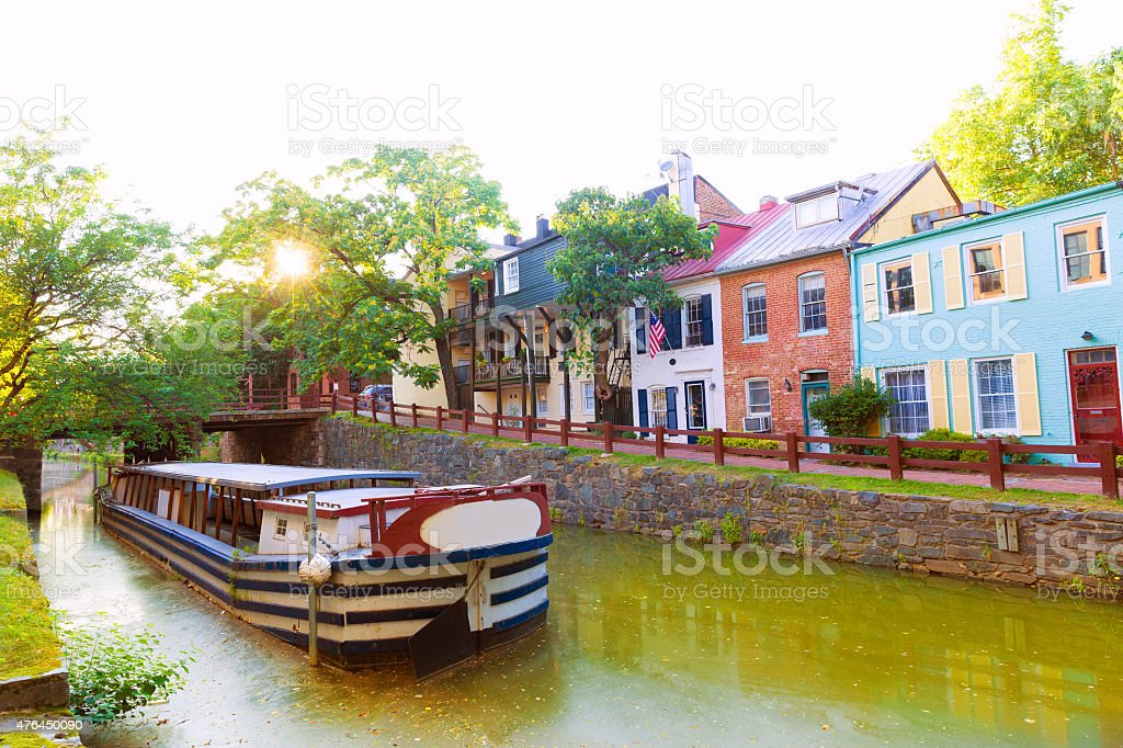 Chesapeake and Ohio Canal National Park DC stock photo