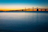 Chesapeake Bay Bridge Just Before Sunrise Horizontal