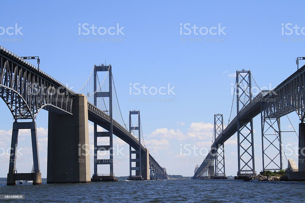 Chesapeake Bay Bridge on a Sunny Day stock photo