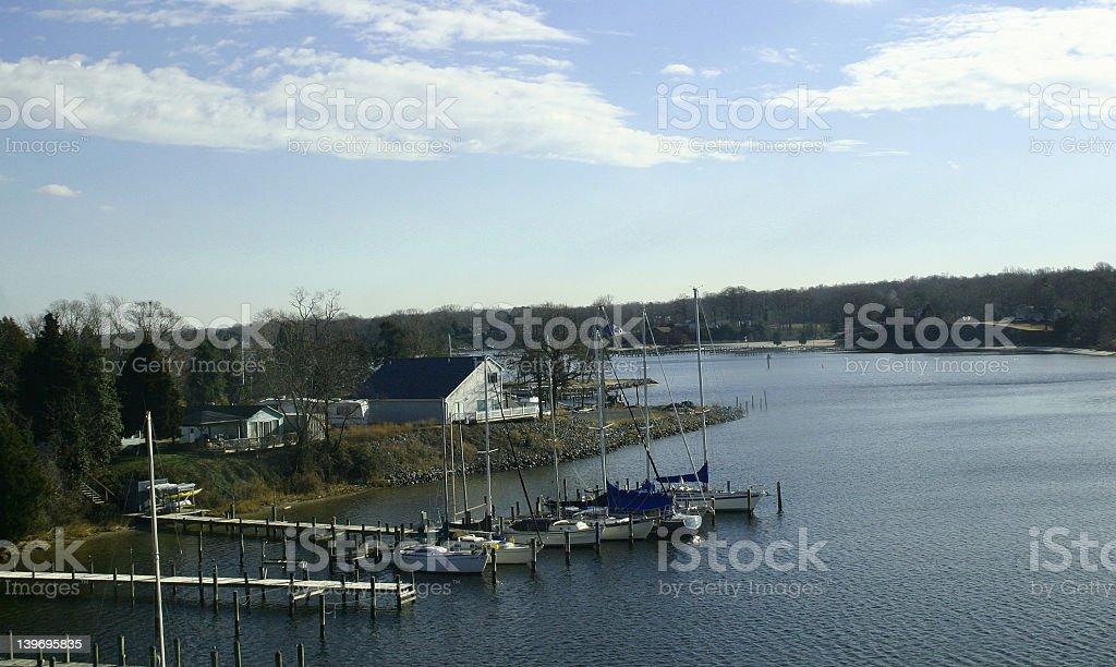 Chesapeake bay Solomon's Island stock photo