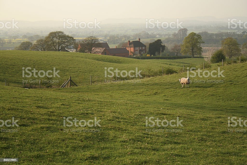 Cheshire farmhouse stock photo