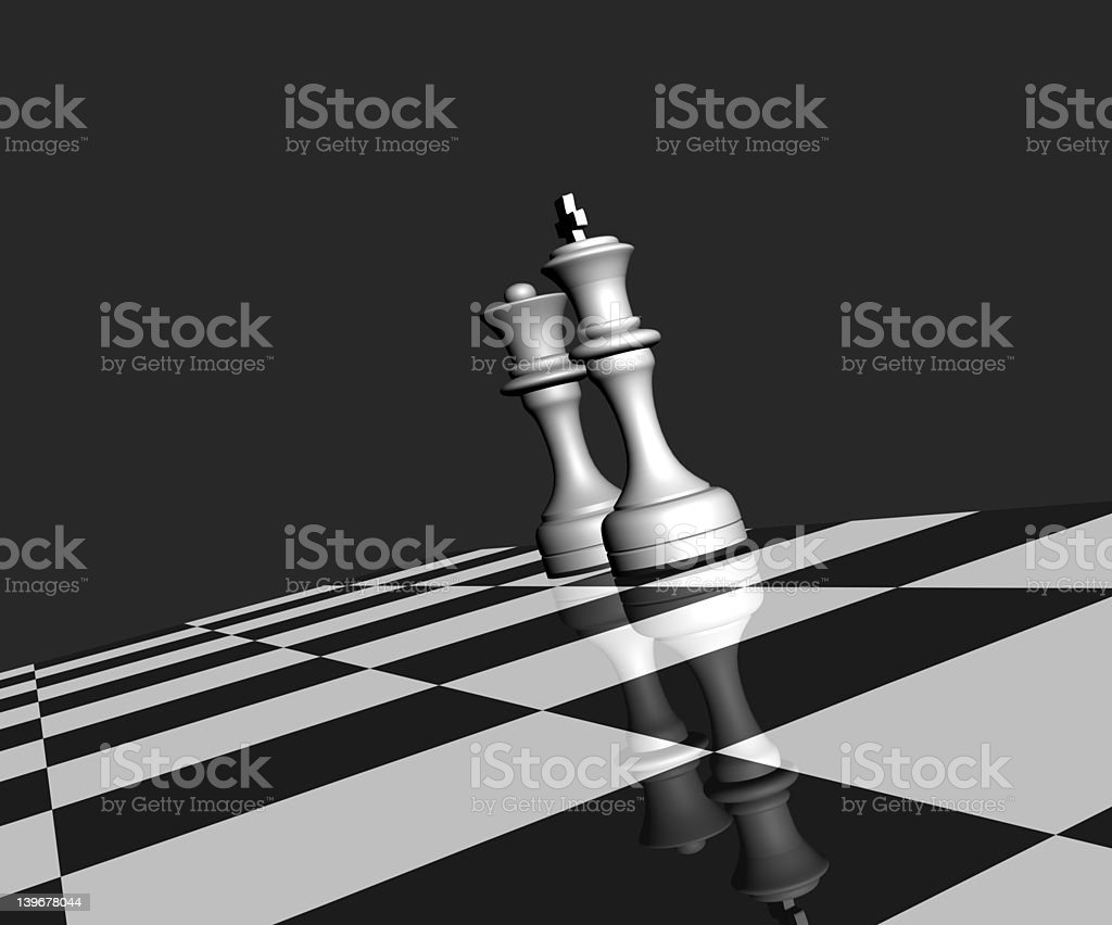 chess - 3D stock photo