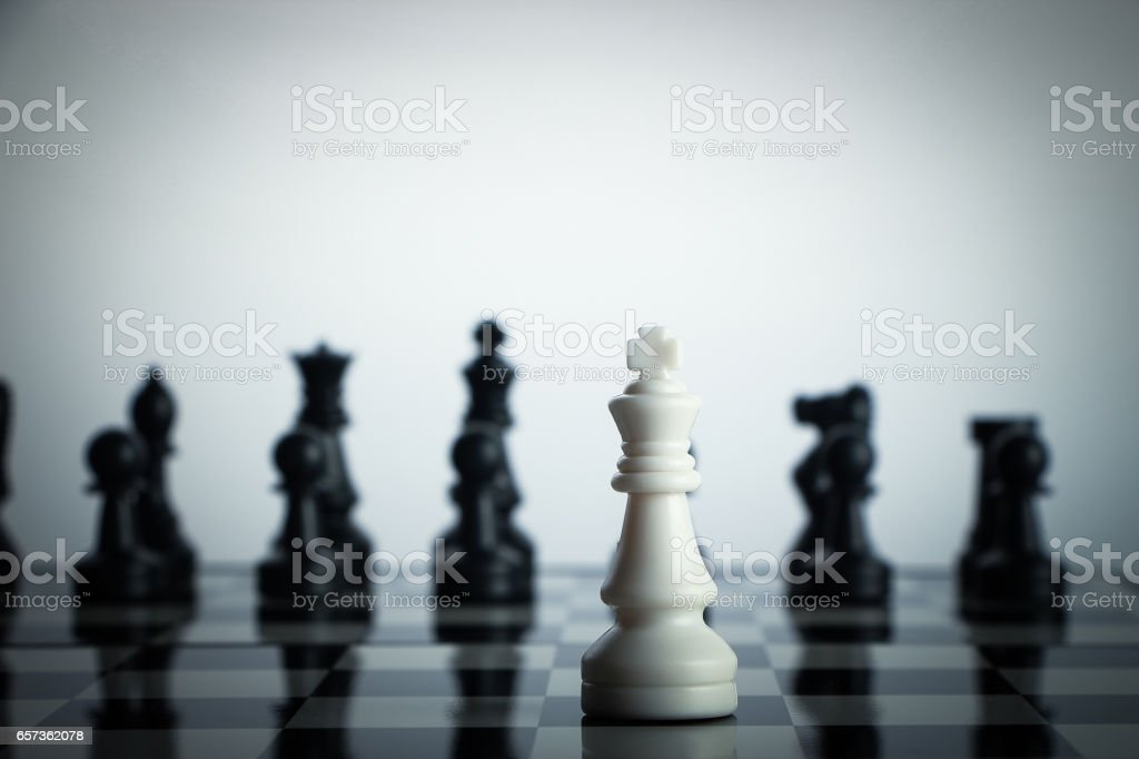 Chess against stock photo