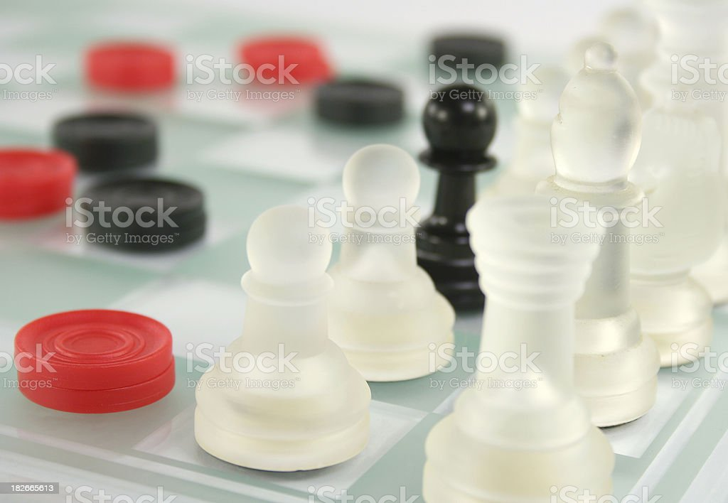 chess and checkers business concept stock photo