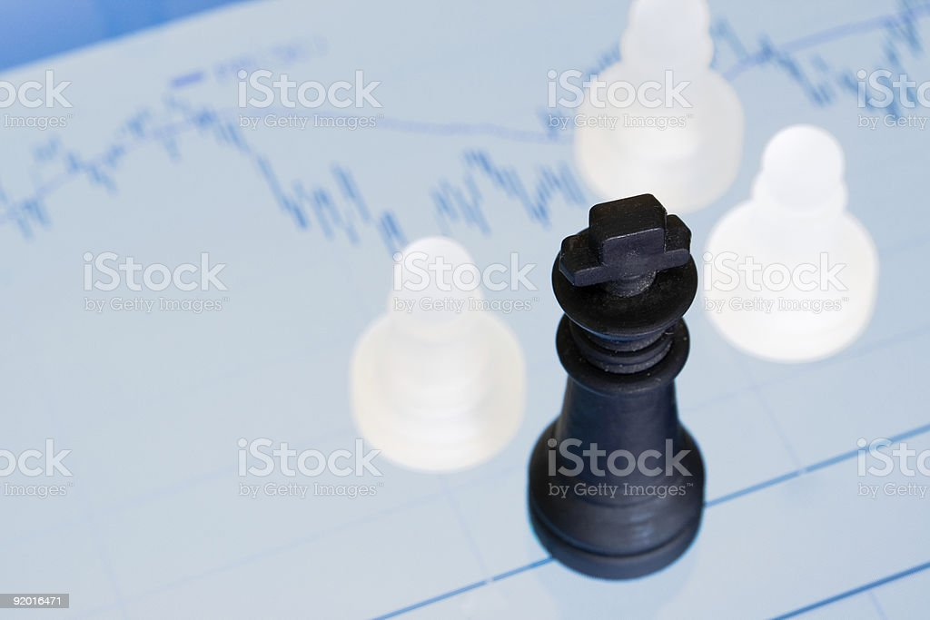 Chess and diagram royalty-free stock photo