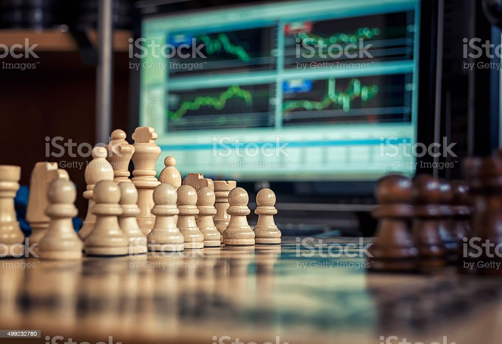 chess and forex stock photo