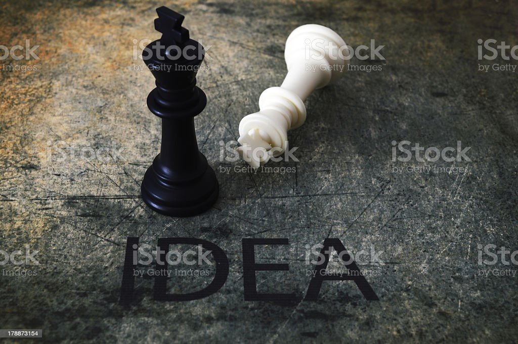 Chess and idea concept royalty-free stock photo