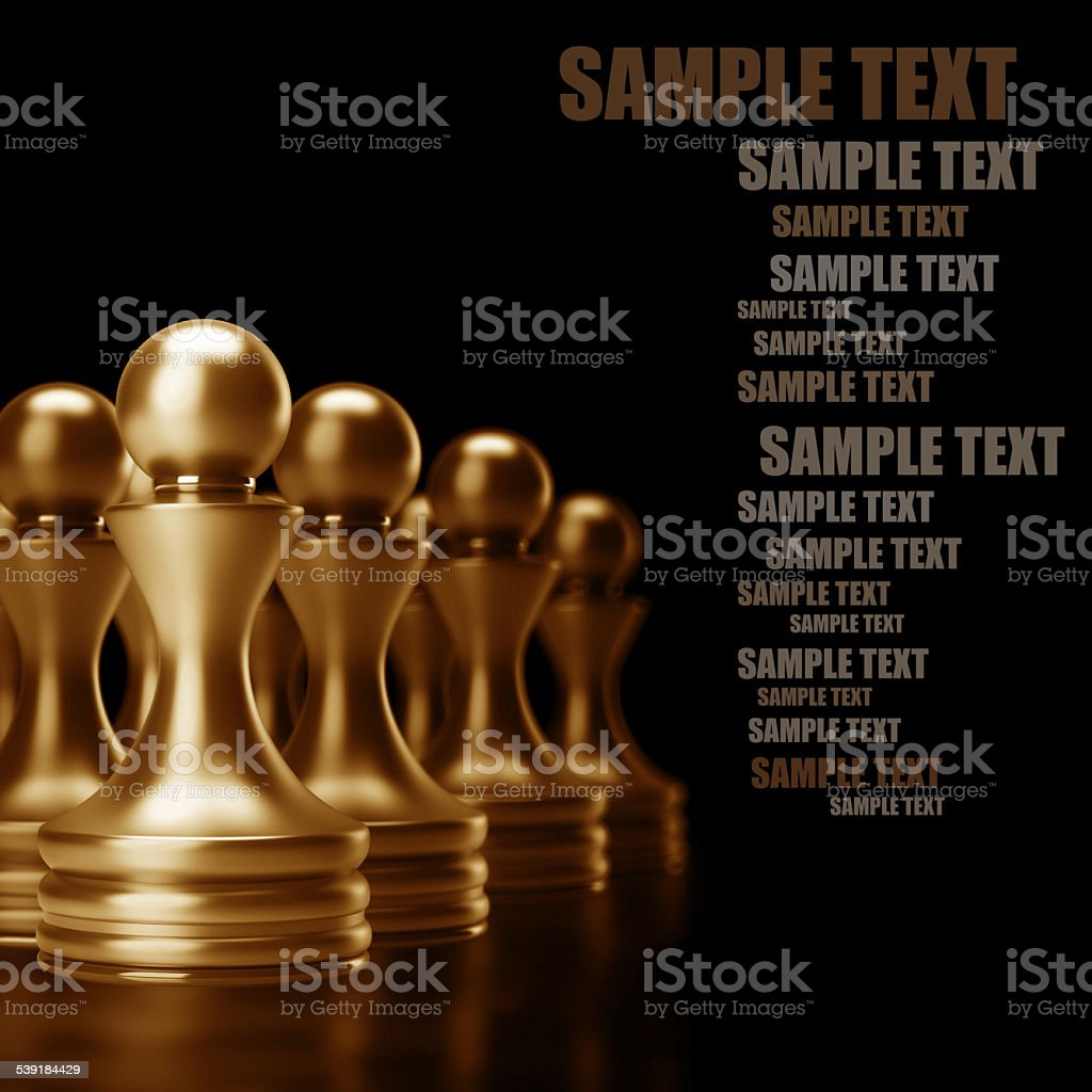 Chess background central figure-pawn 3d illustration. high resolution stock photo