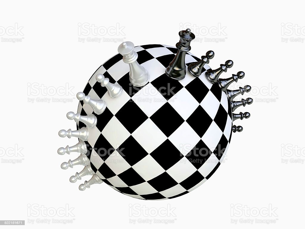 Chess Battle stock photo