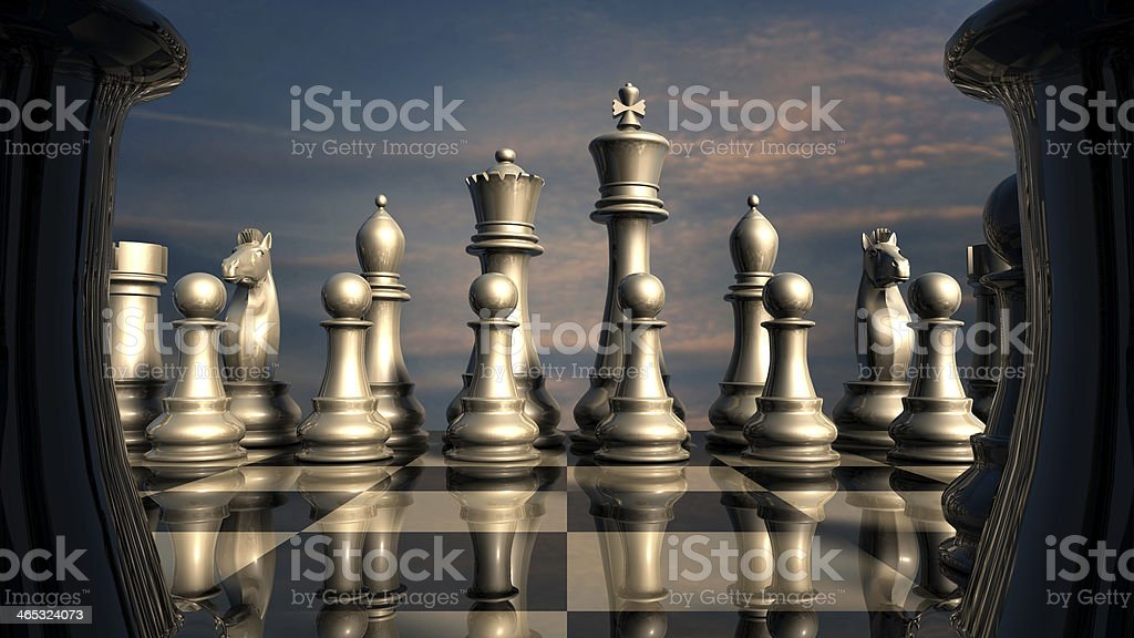 Chess: before battle stock photo