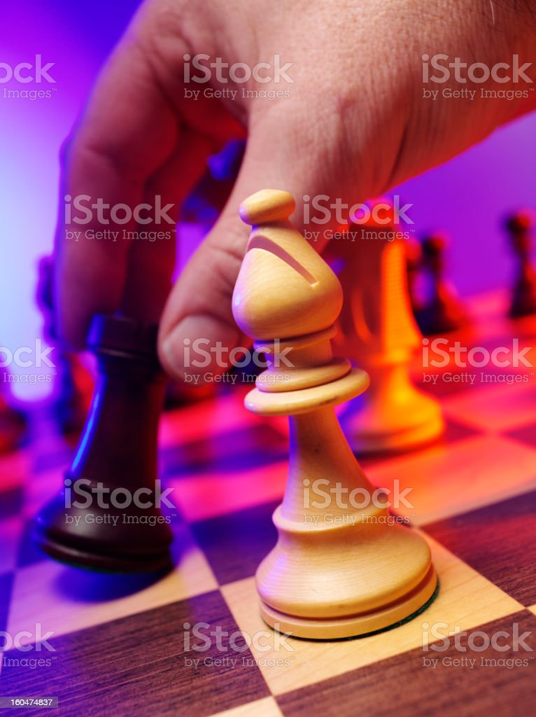 Chess Bishop in a Leisure Game stock photo