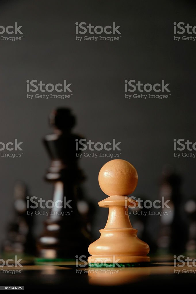 Chess board featuring queen and castle stock photo