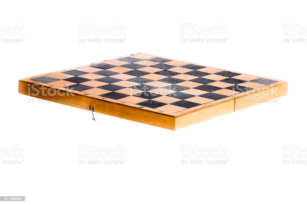 Chess board in the air stock photo