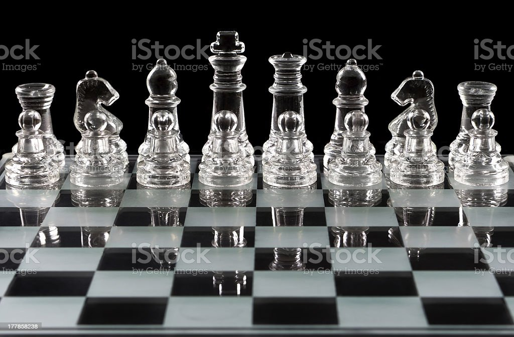 Chess board over black royalty-free stock photo