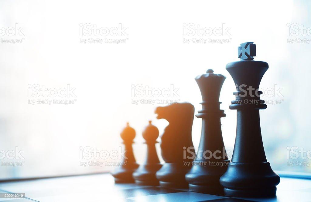 Chess board stock photo