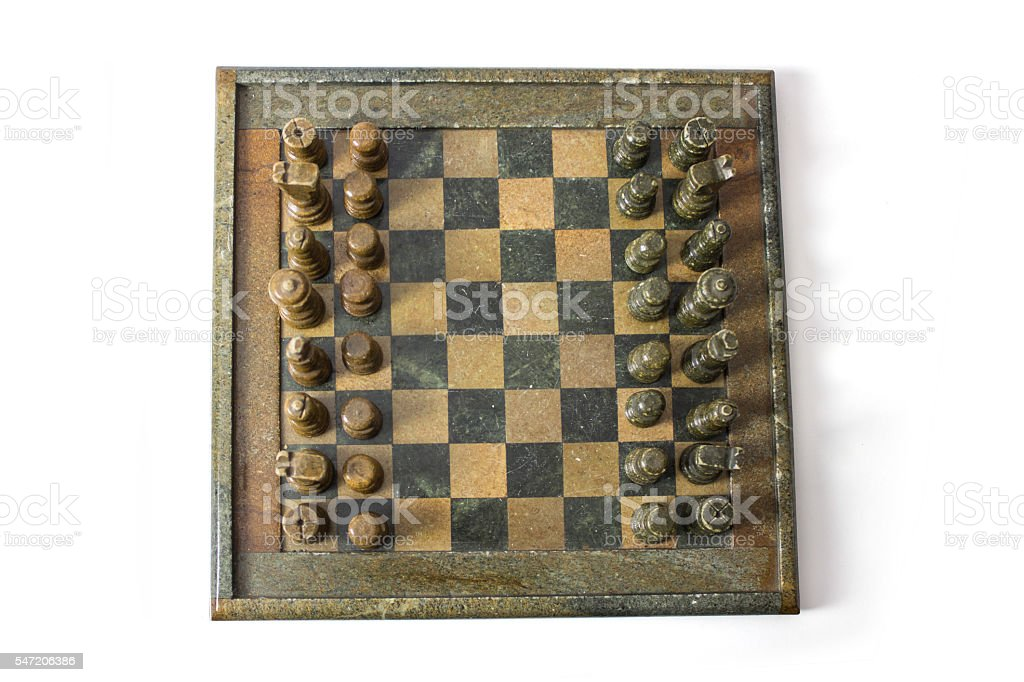 Chess Board Top View stock photo
