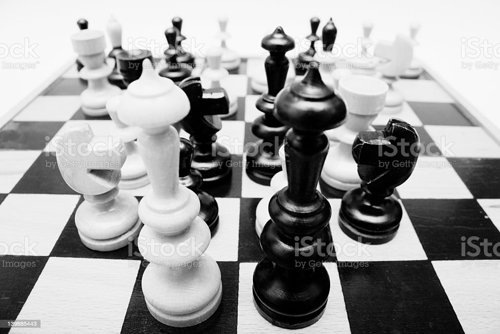 chess board with figure royalty-free stock photo