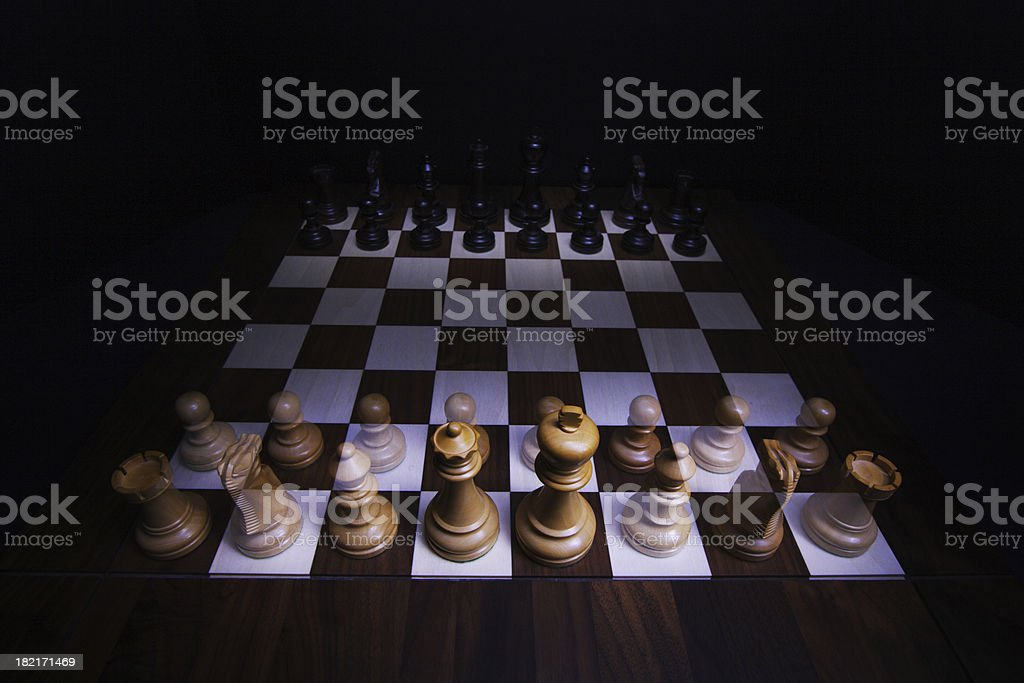Chess Board with ghost army royalty-free stock photo