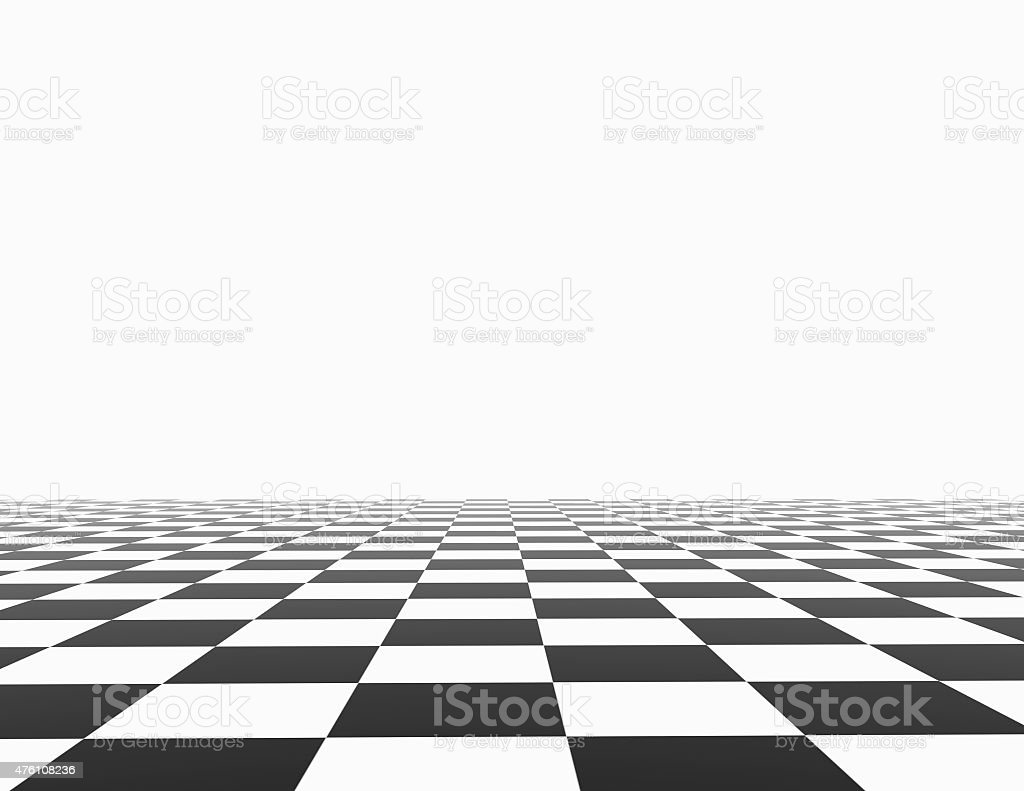 Chess board with white background template. stock photo