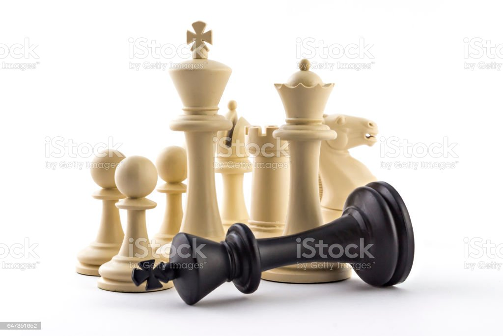 Chess business concept stock photo