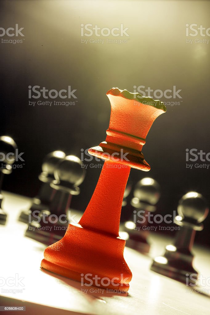 Chess business success, leadership concept stock photo