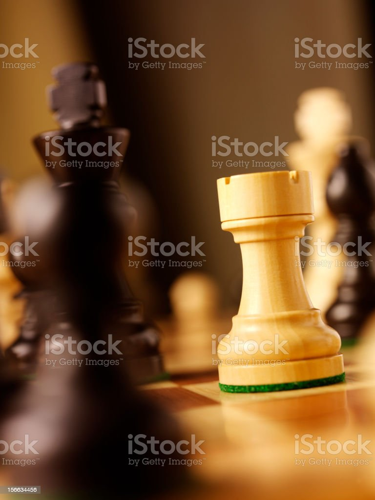 Chess Castle in a Game stock photo