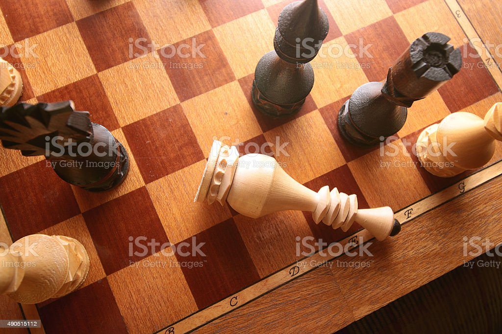 Chess checkmate combination stock photo