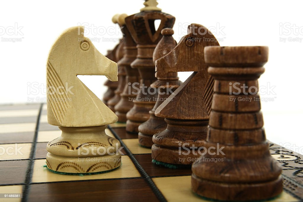 Chess composition royalty-free stock photo