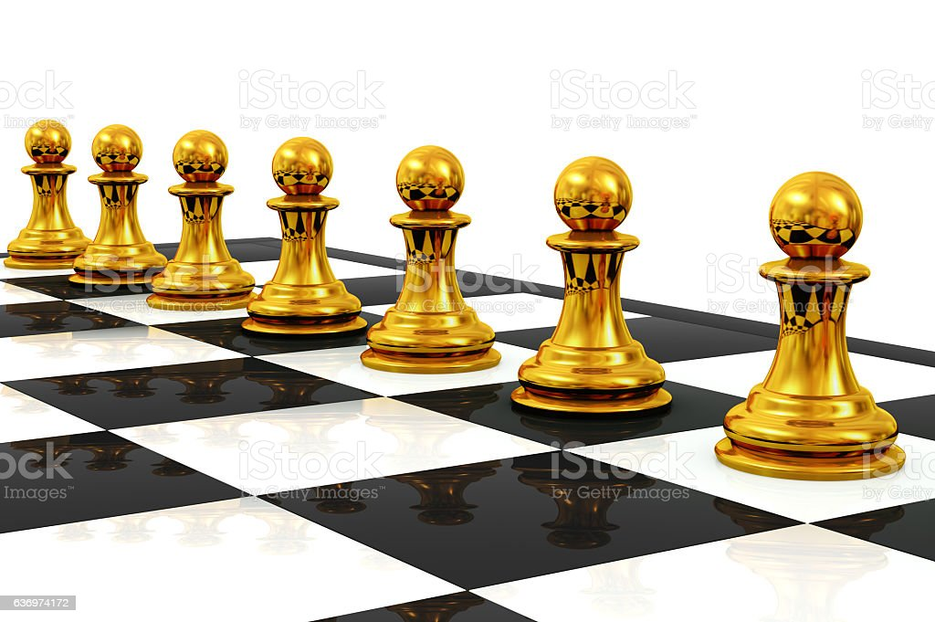 Chess Concept gold stock photo