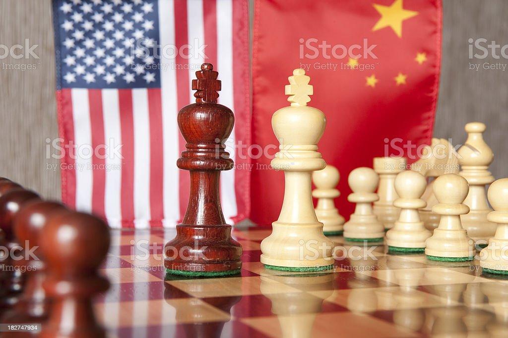 Chess concept stock photo