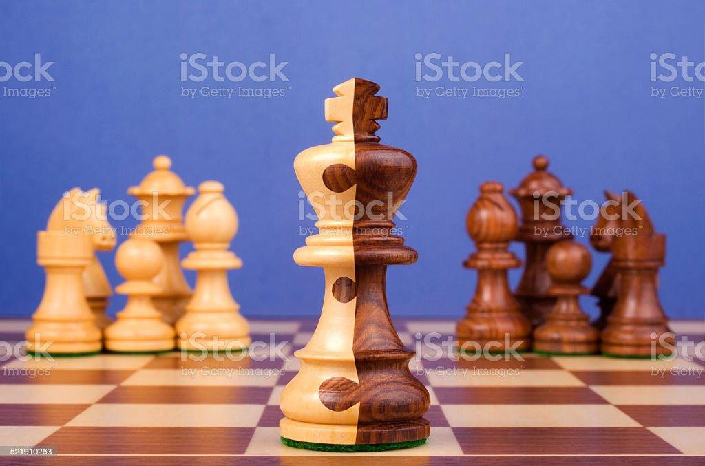 Chess Corporate Merger stock photo