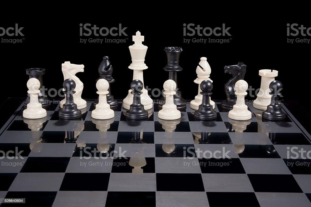 Chess Diversity White King stock photo