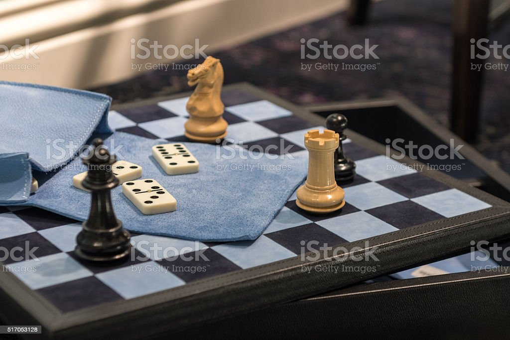 Chess & Dominoes stock photo