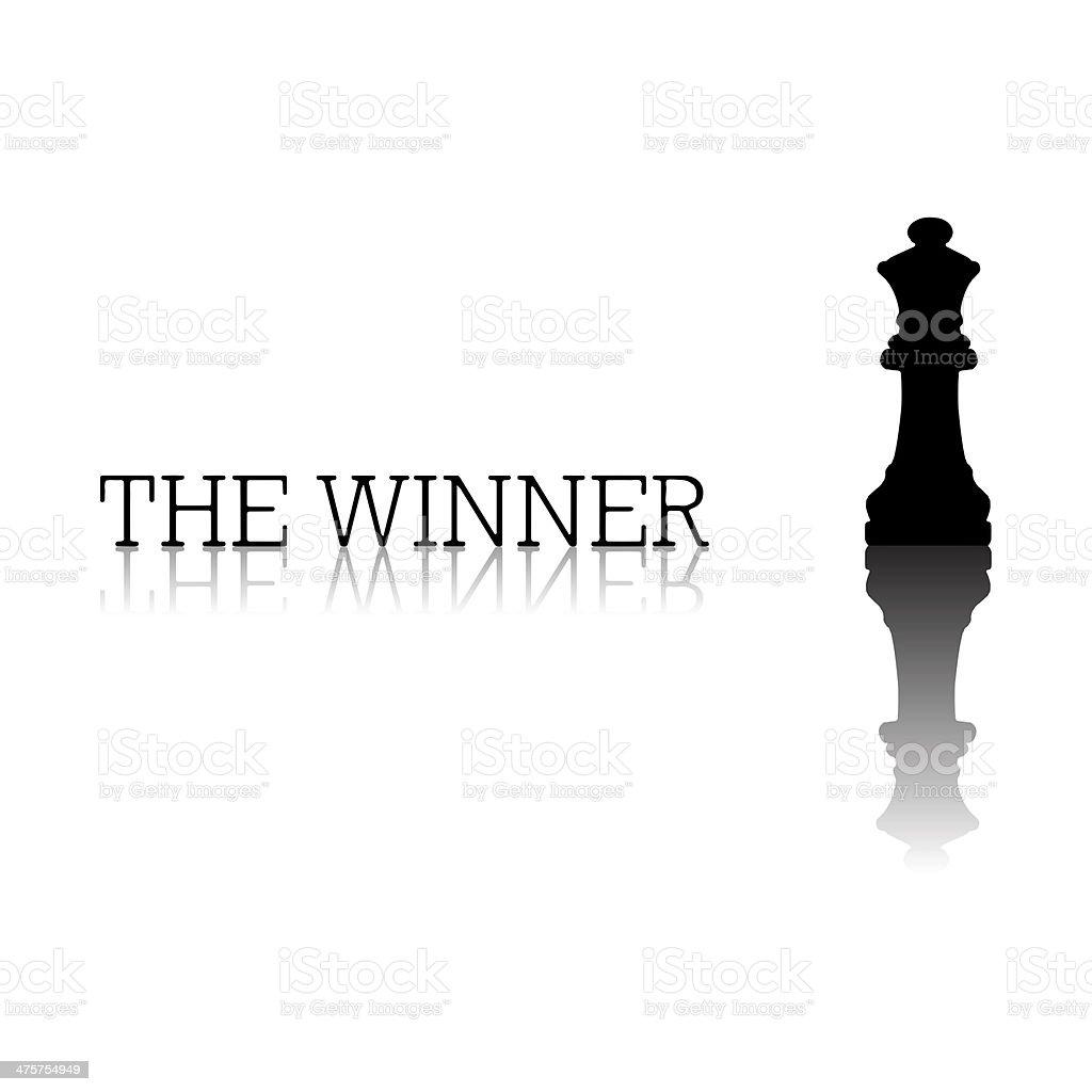 Chess emblem stock photo