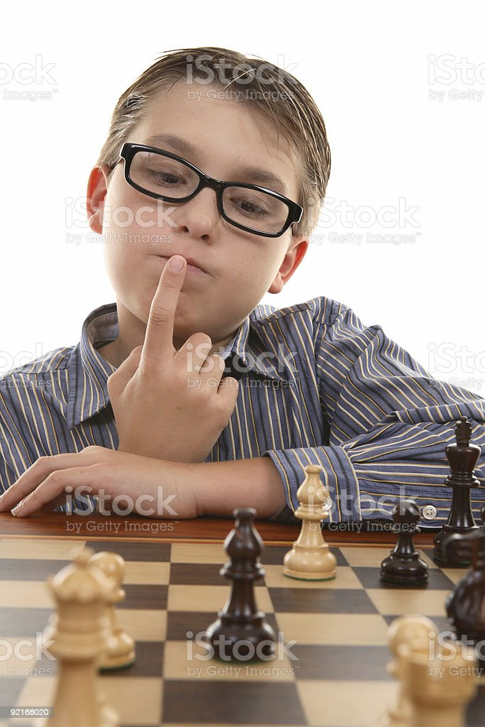Chess - evaluating positions royalty-free stock photo