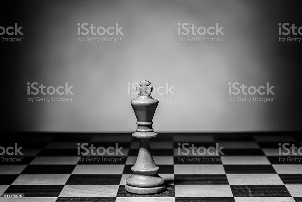 Chess figures on chessboard stock photo