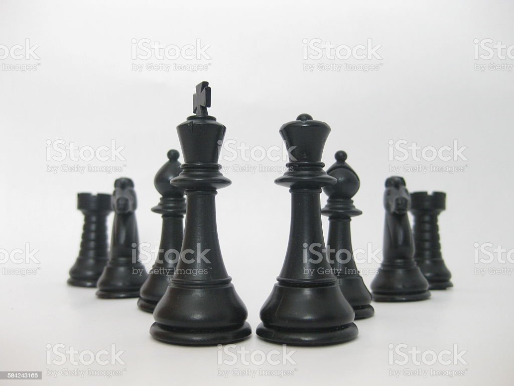 Chess figures . stock photo