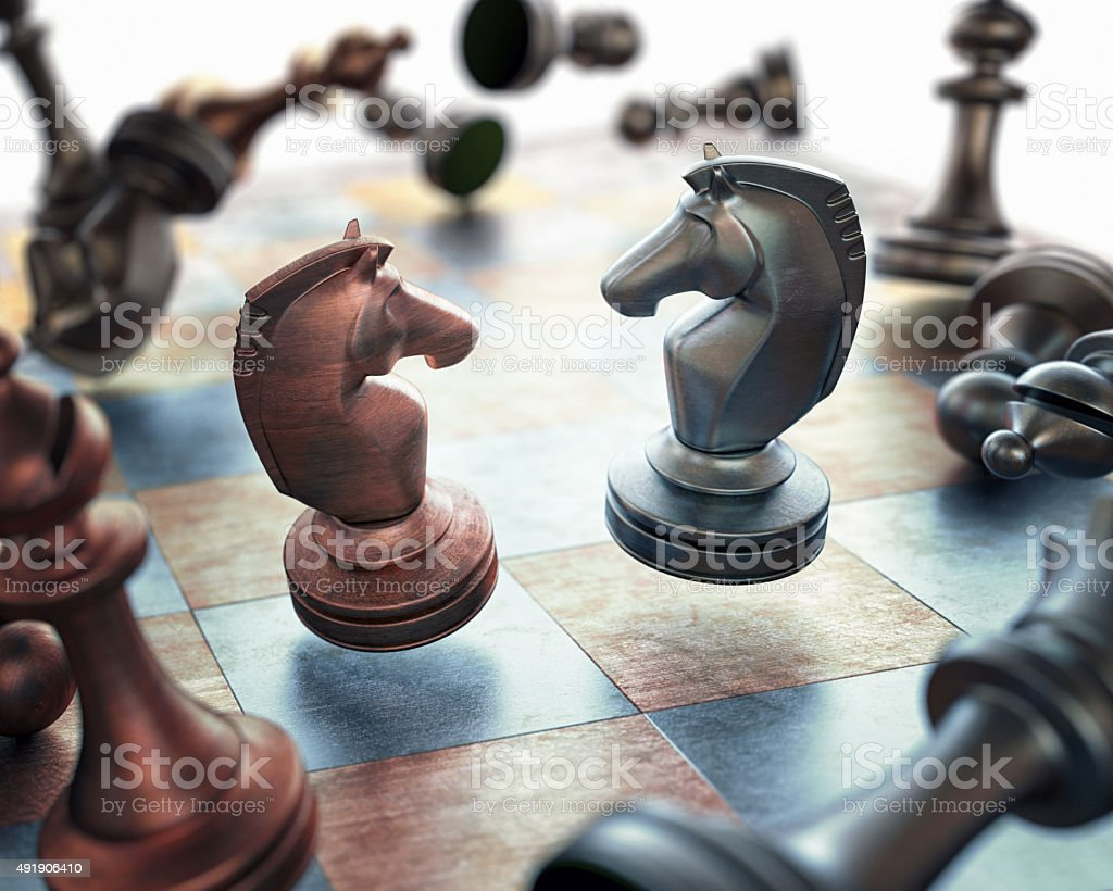 Chess Floating stock photo