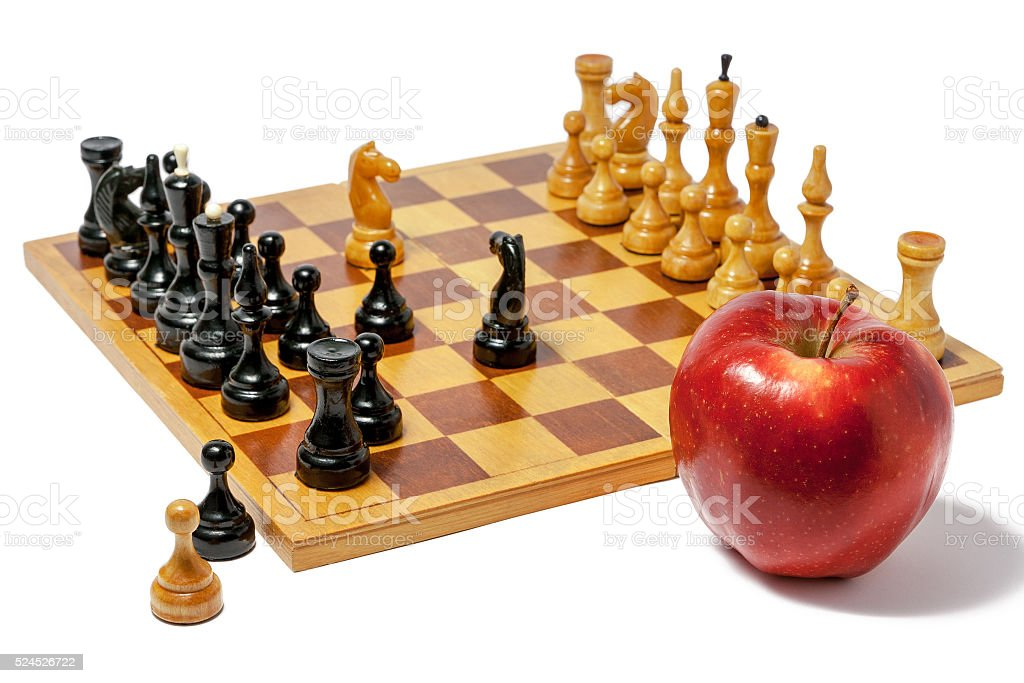Chess food for thought stock photo